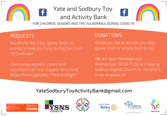 Yate and Chipping Sodbury Toy and Activity Bank Launch